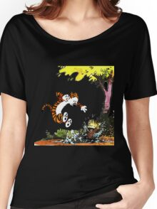 Calvin and Hobbes Playground Women's Relaxed Fit T-Shirt