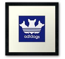 Adidogs Parody Framed Print