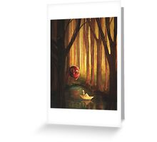 Forest Encounter Greeting Card