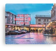 Pike Place Market, Seattle Metal Print
