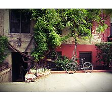 Bicycle in Istanbul Photographic Print