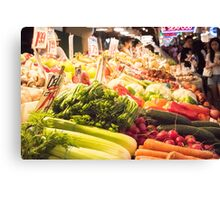 Fresh Vegetables at Pike Place Market Canvas Print