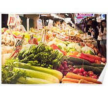 Fresh Vegetables at Pike Place Market Poster