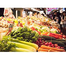 Fresh Vegetables at Pike Place Market Photographic Print