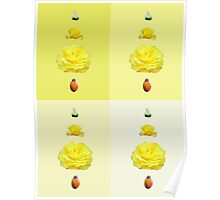 Steps of a rose - pop art - yellow Poster