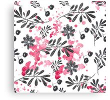 black pattern with drops  Canvas Print
