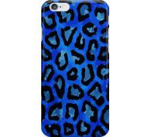 Blue Black Cheetah Abstract Pattern  iPhone Case/Skin