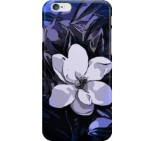 Beautiful Vibrant Blue White Abstract Flower  iPhone Case/Skin