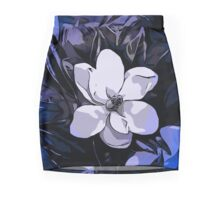 Beautiful Vibrant Blue White Abstract Flower  Pencil Skirt