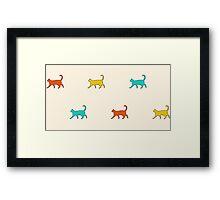 Cat Walk (Ivory) Framed Print