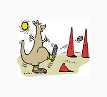 Cartoon kangaroo kicking football in Australian outback T-Shirt