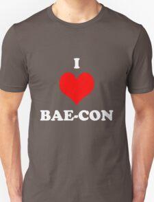 I Love Bae Bacon Heart Shirt Unisex T-Shirt