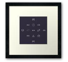 9-Bit Framed Print