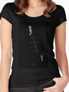 Bourne - You Know His Name Movie Poster Women's Fitted Scoop T-Shirt
