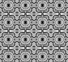 Mandala Tile Pattern by LizWallflower
