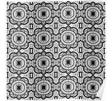 Mandala Tile Pattern Poster