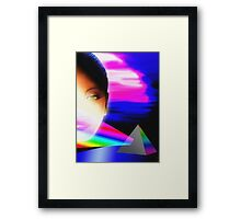 retro prism Framed Print