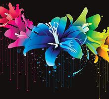 Colourful flower vector by trendism