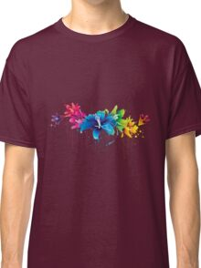 Colourful flower vector Classic T-Shirt
