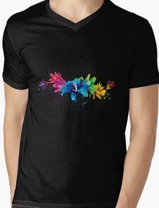 Colourful flower vector Mens V-Neck T-Shirt