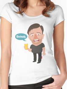 Ricky Gervais Women's Fitted Scoop T-Shirt