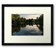 Buckingham Palace Mirror - St James's Park Lake in London, United Kingdom Framed Print