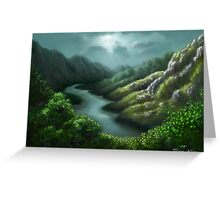 Valley Halo Greeting Card
