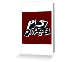 Persona 5 Greeting Card