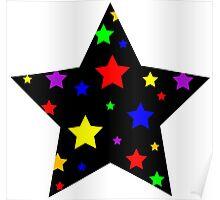 Stroboscopic star - light and black Poster