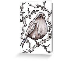 Sitting Pretty Bird Greeting Card