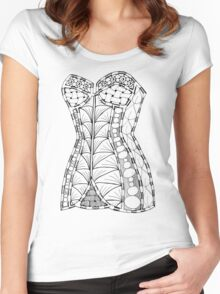 Corset #1 Women's Fitted Scoop T-Shirt