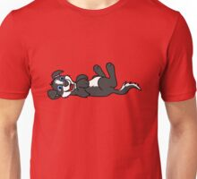 Black Dog with Blaze - Roll Over Unisex T-Shirt