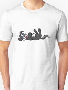 Black Dog with Blaze - Roll Over Unisex T-Shirt
