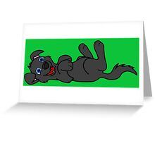 Black Dog - Roll Over Greeting Card