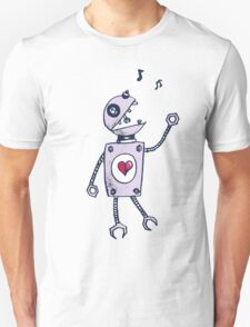 Happy Singing Robot Unisex T-Shirt