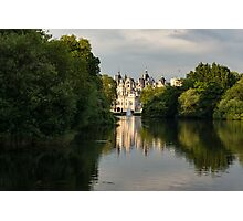 St James's Park Lake Reflections, London UK - Green, Gray and Beautiful Photographic Print
