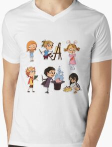 Vector children set Mens V-Neck T-Shirt