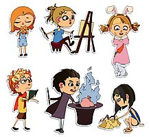 Vector children set Photographic Print