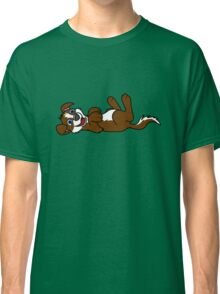 Brown Dog with Blaze - Roll Over Classic T-Shirt