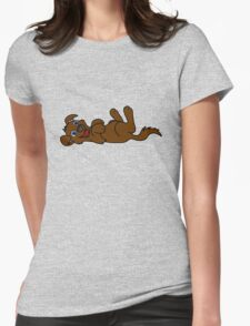 Brown Dog - Roll Over Womens Fitted T-Shirt