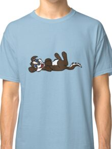 Chocolate Dog with Blaze - Roll Over Classic T-Shirt