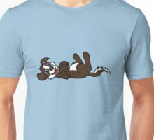 Chocolate Dog with Blaze - Roll Over Unisex T-Shirt