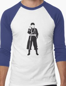 Roy Mustang Men's Baseball ¾ T-Shirt