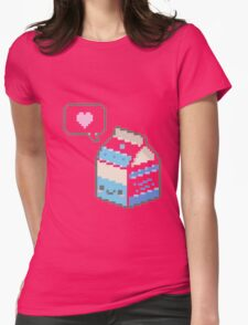 Kawaii milk carton Womens Fitted T-Shirt