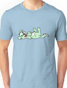 Light Green Dog with Blaze - Roll Over Unisex T-Shirt