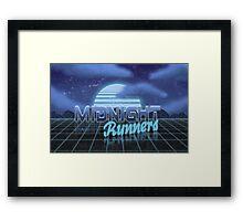 Midnight Runner 1980s neo-design Framed Print