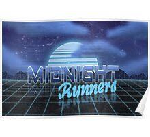 Midnight Runner 1980s neo-design Poster