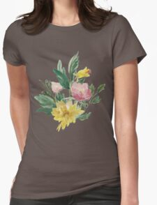 Vintage Watercolor Bouquet Yellow Pink T-Shirt