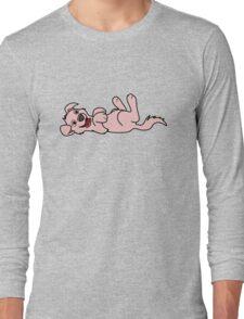 Light Pink Dog - Roll Over Long Sleeve T-Shirt