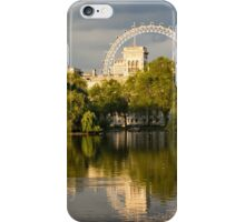 Sunlit Landmarks - St James's Park Lake Reflections in London UK iPhone Case/Skin